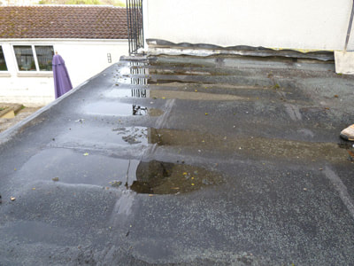 Water on Flat Roof Chesterfield VA Roofing